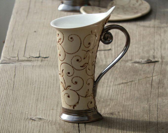 mug ceramic mug tea mug red mug unique mug ceramics and pottery stoneware mug pottery mug. Black Bedroom Furniture Sets. Home Design Ideas