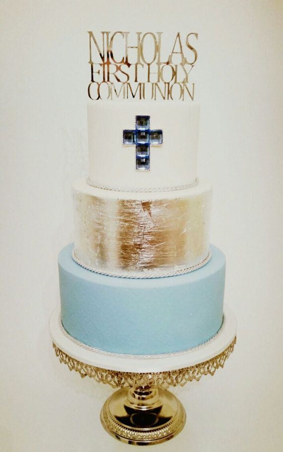 Personalised First Holy Communion Cake Topper Perfect