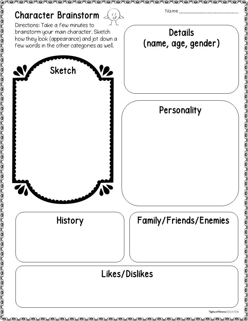 Character Interview A Short Story Writing Activity Writing Activities Writing Short Stories Reading Graphic Organizers [ 1056 x 816 Pixel ]