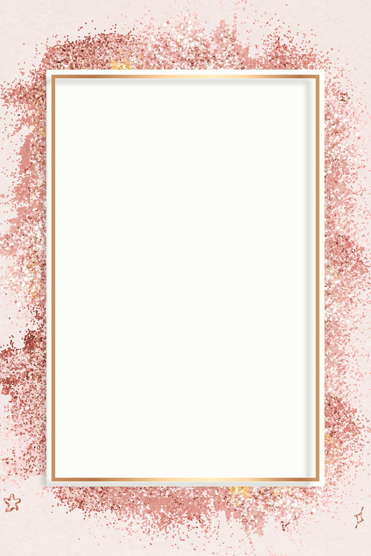 Download Premium Vector Of Rose Gold Glitter Frame Vector Pink Festive Gold Glitter Background Glitter Frame Rose Gold Backgrounds