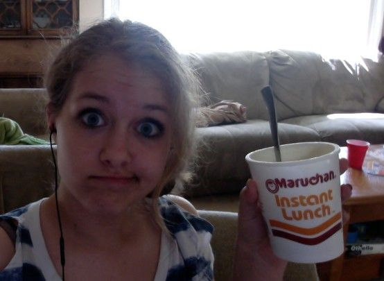 afta school snackkk :) ps ik its a weird face :P