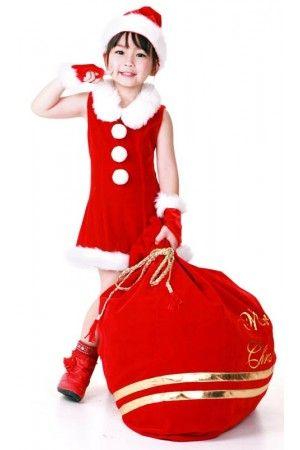 741a617cd477e Cute kids Santa costume