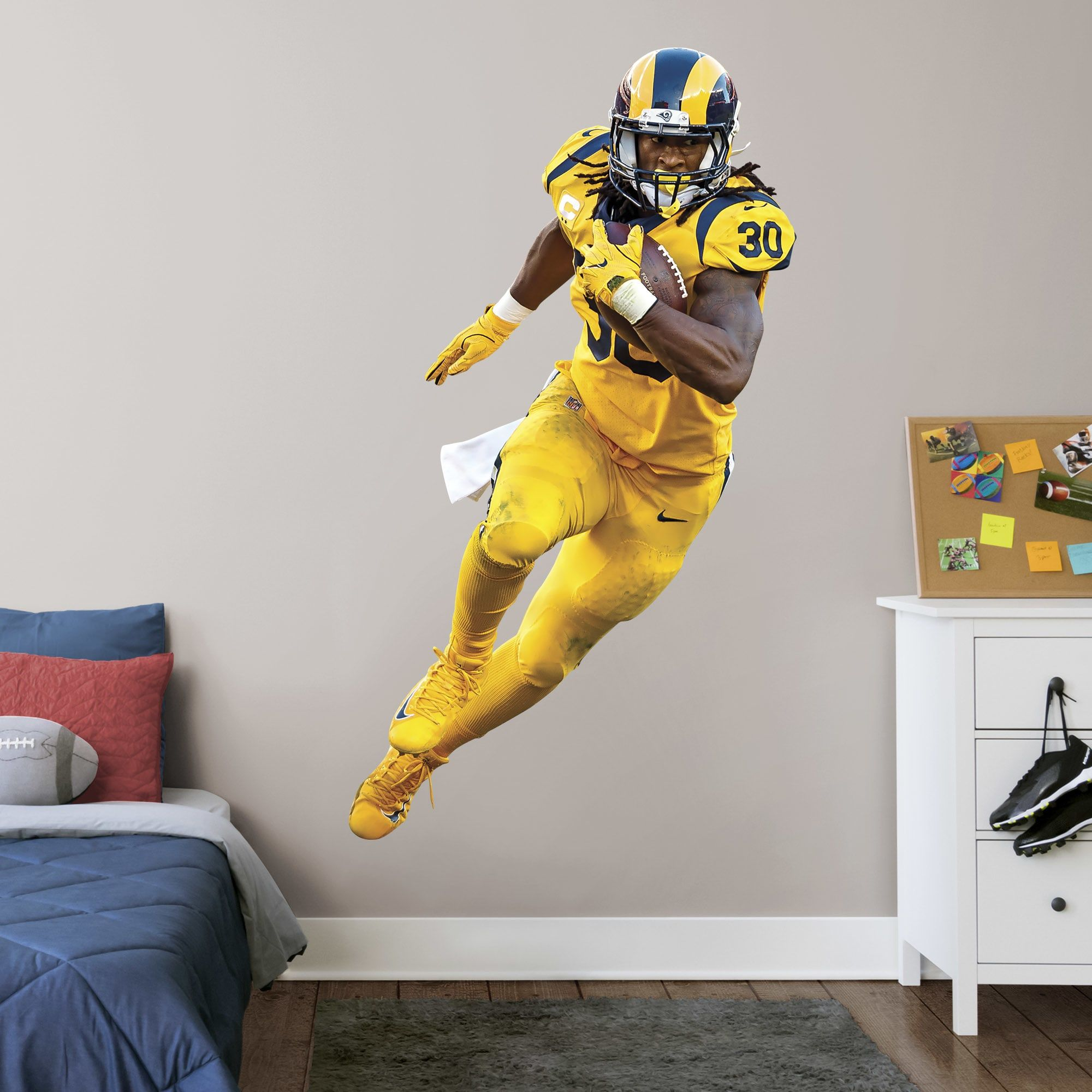Todd Gurley Life Size Officially Licensed Nfl Removable Wall Decal Removable Wall Decals Removable Wall Todd Gurley