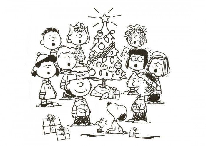 Charlie Brown Christmas Coloring Page | Páginas para ...