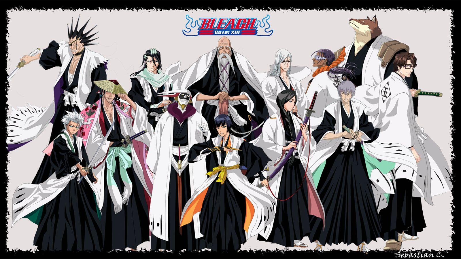 Gotei XIII HD Background Anime Bleach Anime,