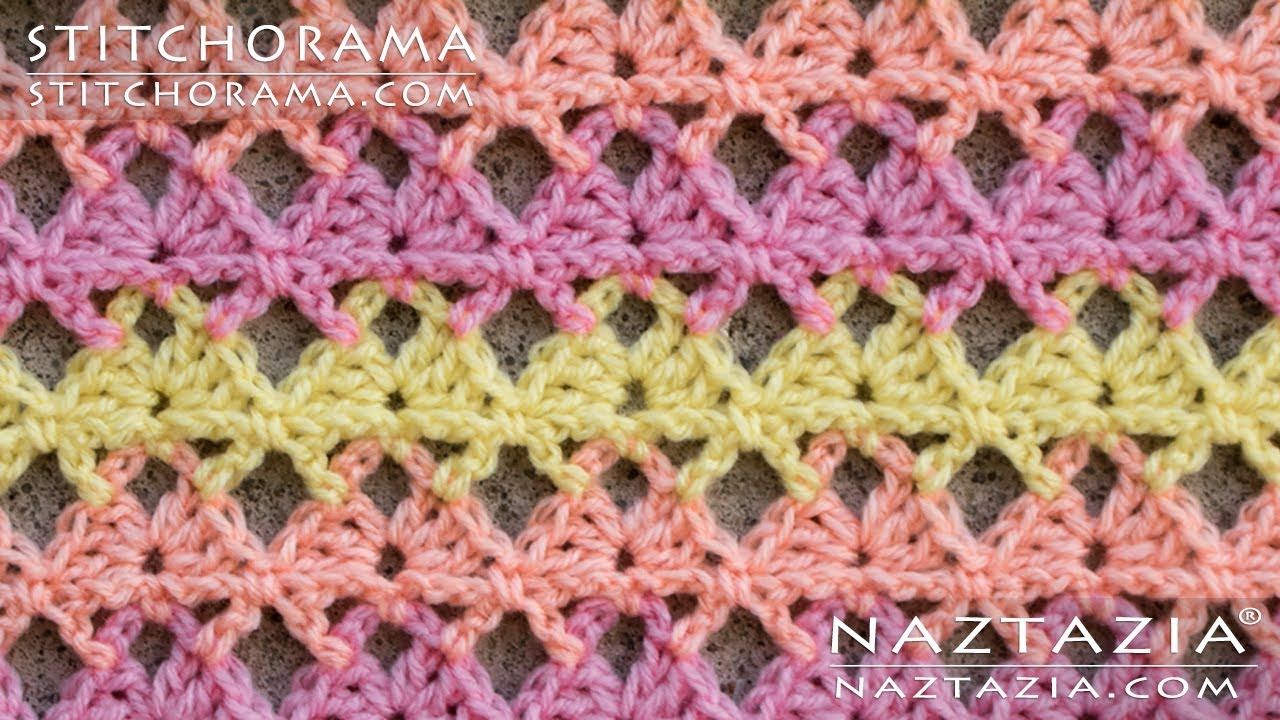 Crochet Shell Stitch 003 - Stitchorama by Naztazia | Puntos y ...