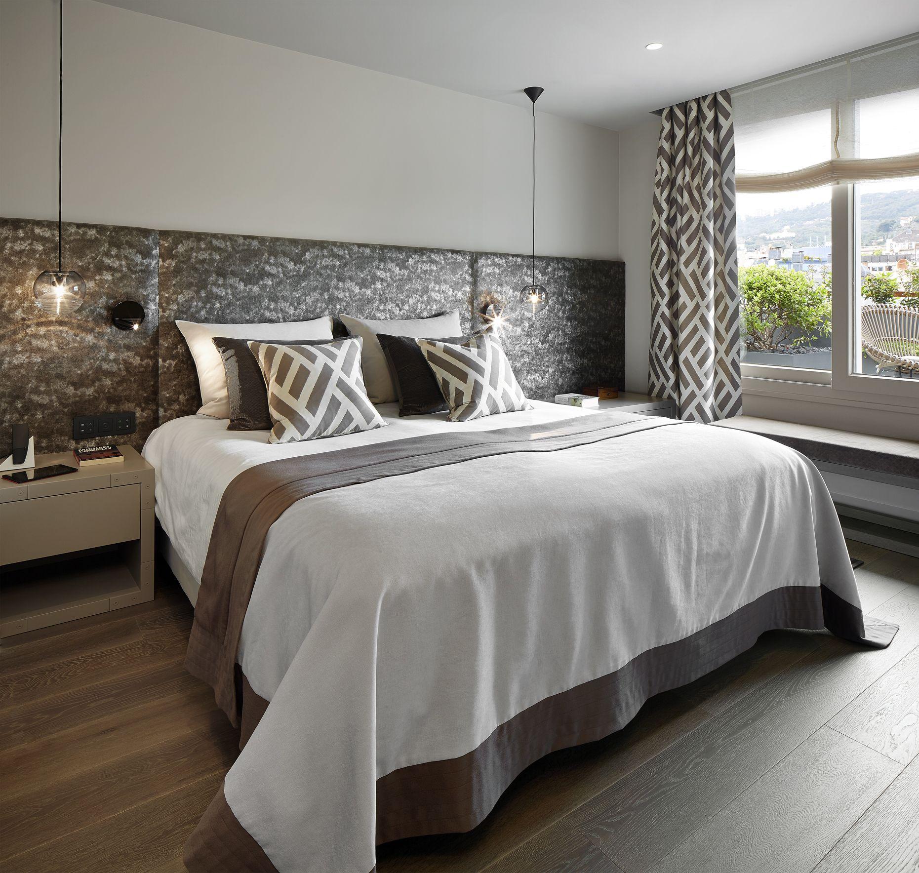 Molins interiors arquitectura interior interiorismo decoraci n dormitorio suite - Decoracion cortinas dormitorio ...