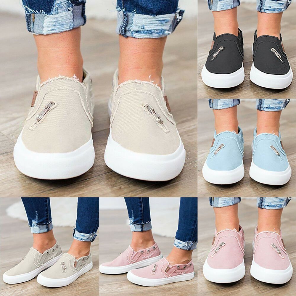 Women Ladies Loafer Casual Sneakers Summer Shoes Flat Sneakers Low Shoes