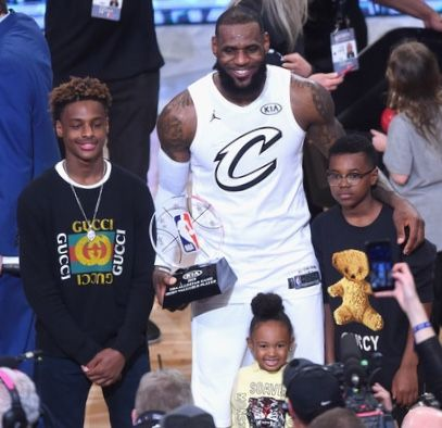 Lebron James and Kids  902f082d3