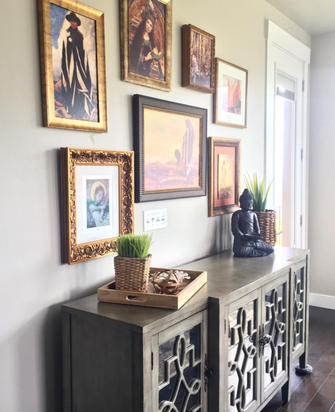 Home Staging Gallery: Art Gallery Wall Buffet (With Images)