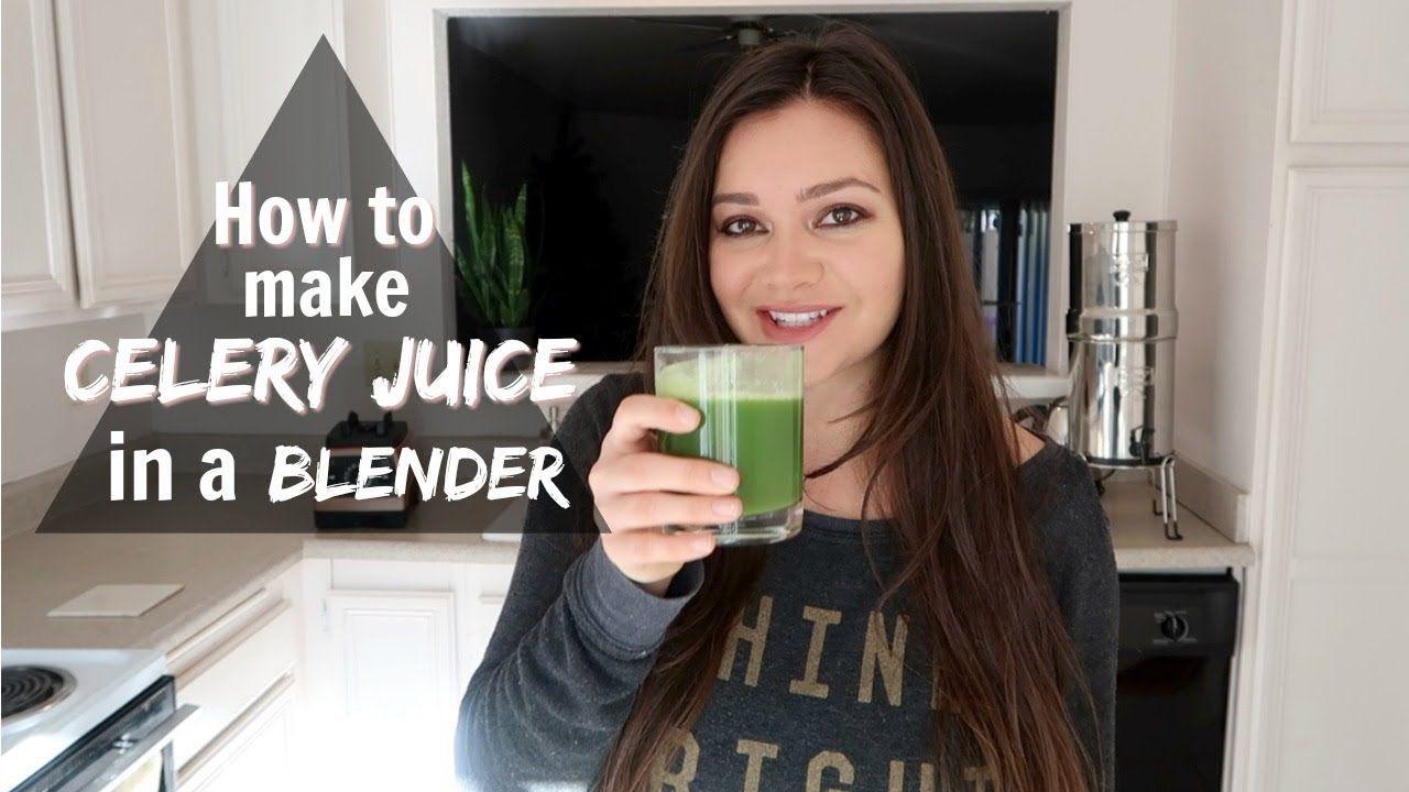 How to make celery juice in a blender medical medium