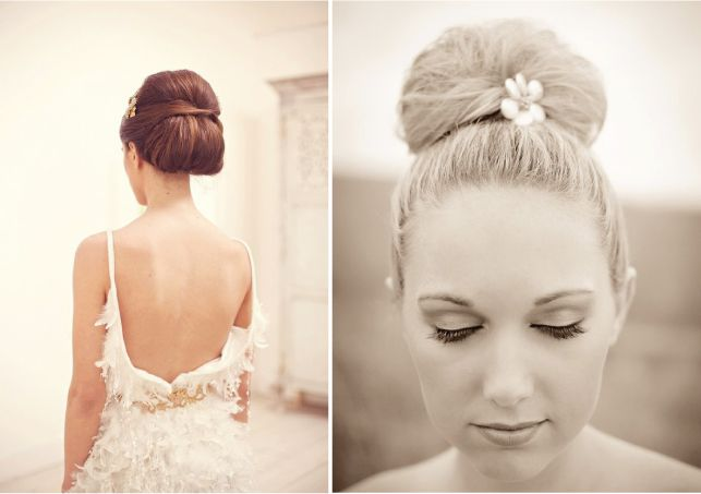 Wearing your hair up….Classic, Glamorous, Simple, safe (from the weather) …. Whether you're having a fabulously fun winter wedding or a simple, relaxed summer ceremony, the up-do is any a great way forward for any bride!  The ballerina bun is big news this season! It takes great bone structure …