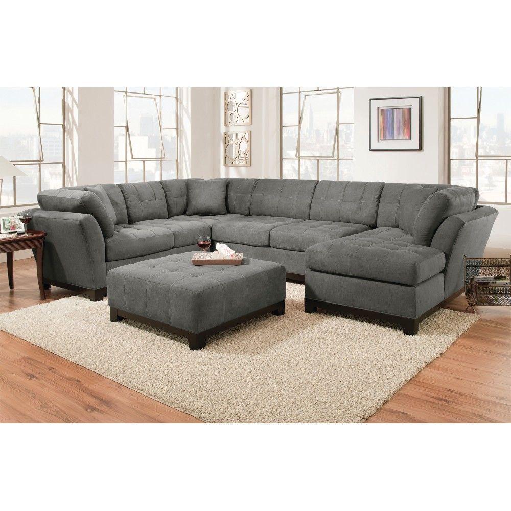 Sofa Slipcovers Conns Manhattan Sectional Sofa Loveseat u LSF or RSF Chaise Slate