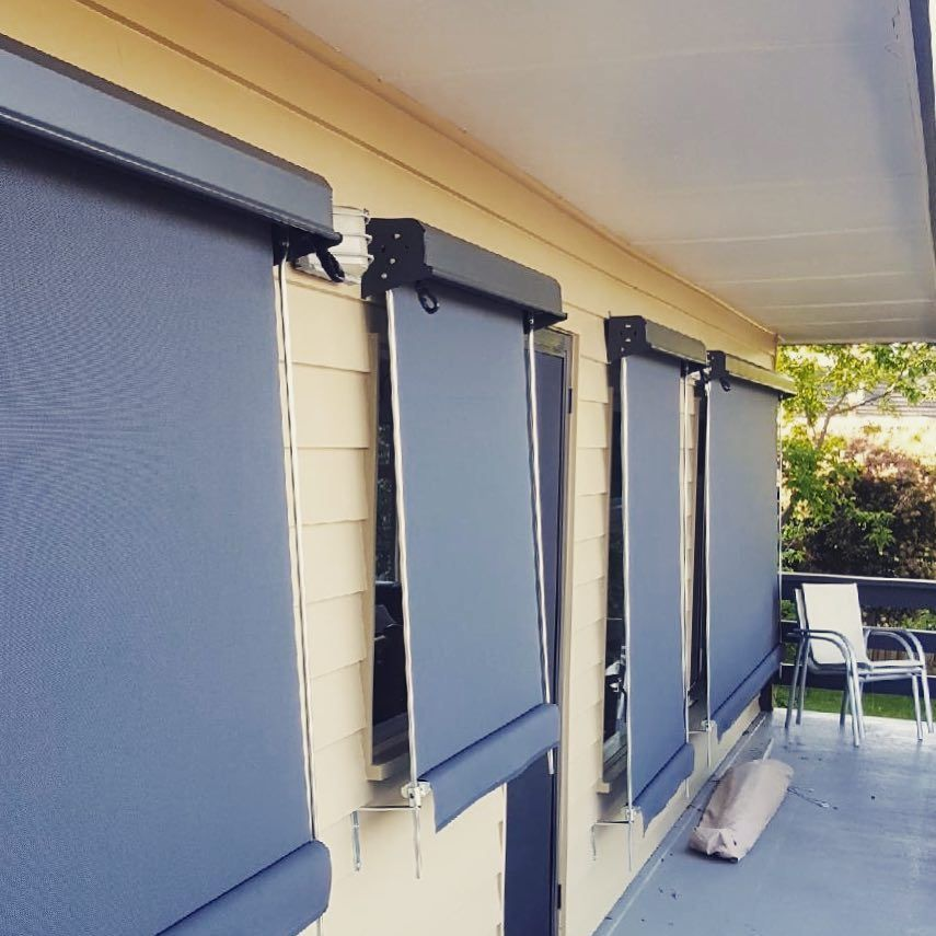 Traditional Outdoor Awnings With A Twist Gear Operation For