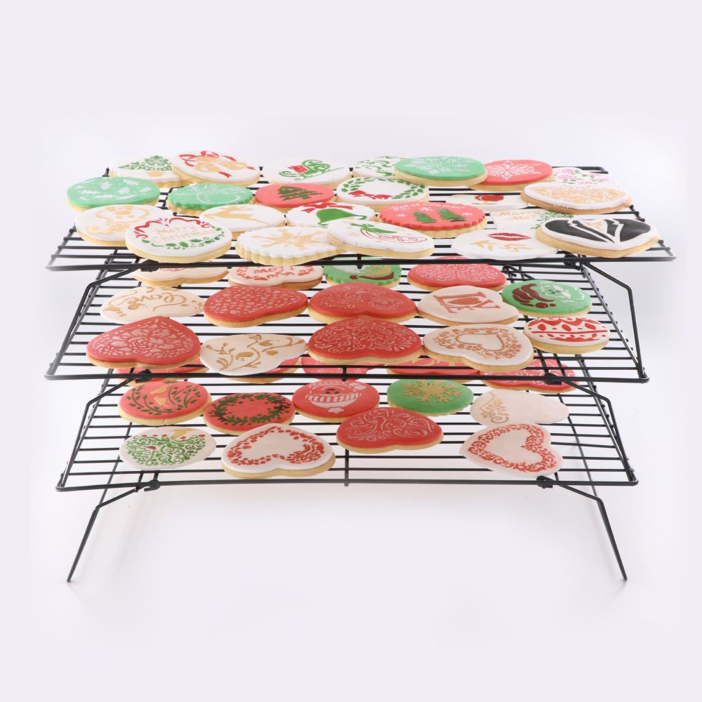 Lc Food Grade 3 Pcs 34 24cm Cake Cooling Rack Nonstick Cookie
