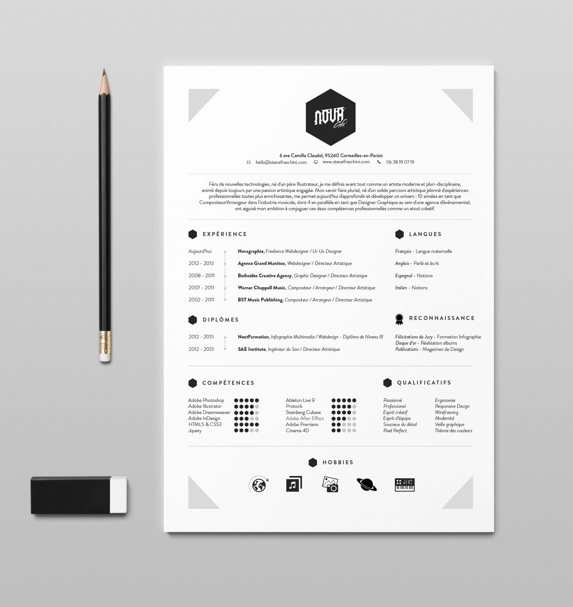 2014-resume-cv | Portfolio | Pinterest | Creatividad
