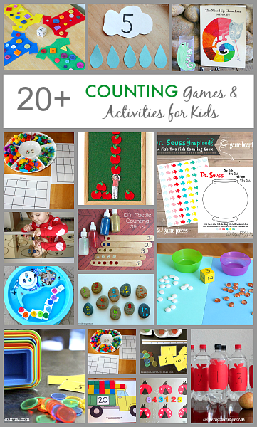 Over 20 Counting Games and Activities for Kids. Repinned by SOS Inc. Resources pinterest.com/sostherapy/.