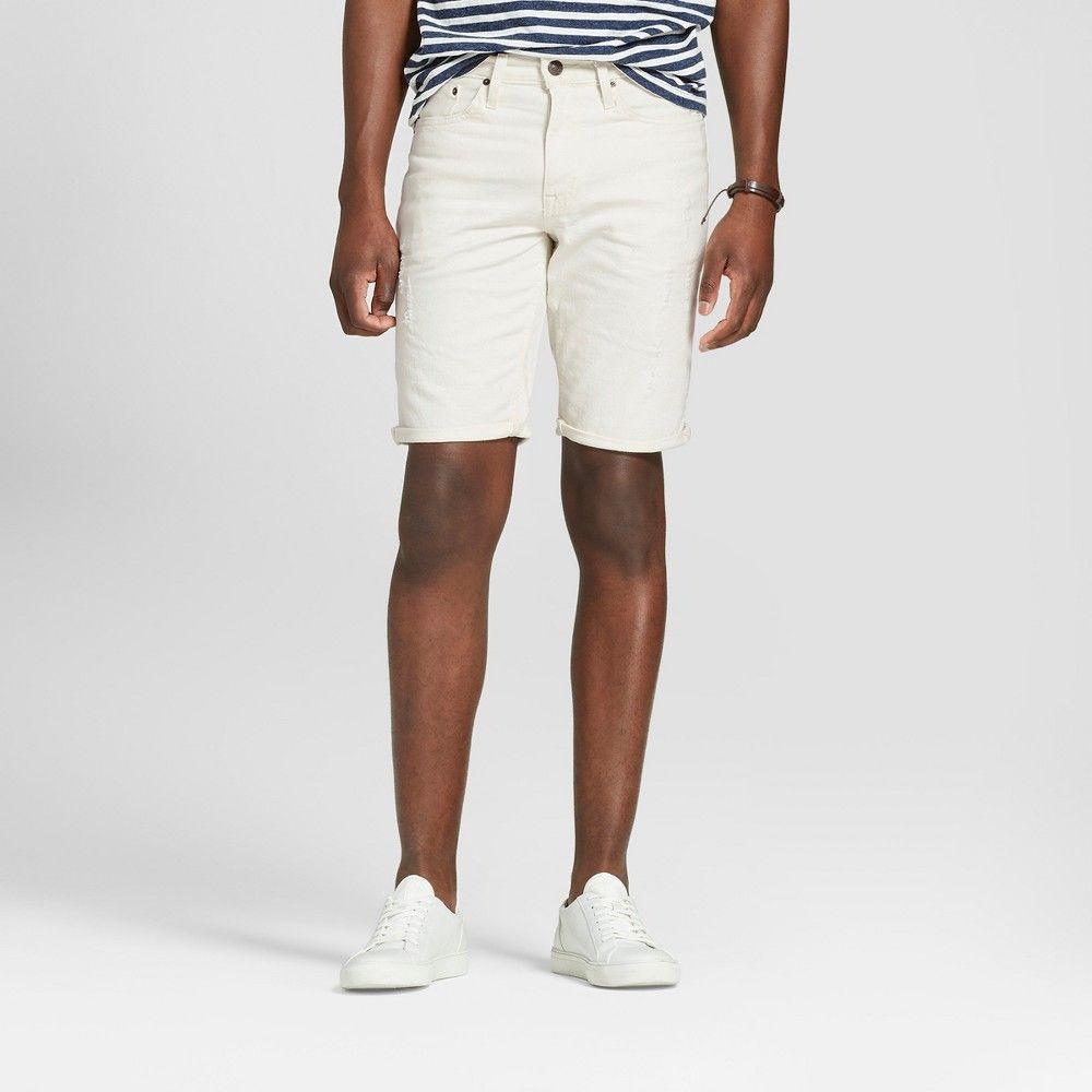 a5282ffda5 Men's 11.5 Slim Fit Shorts - Goodfellow & Co White 34, Beige ...