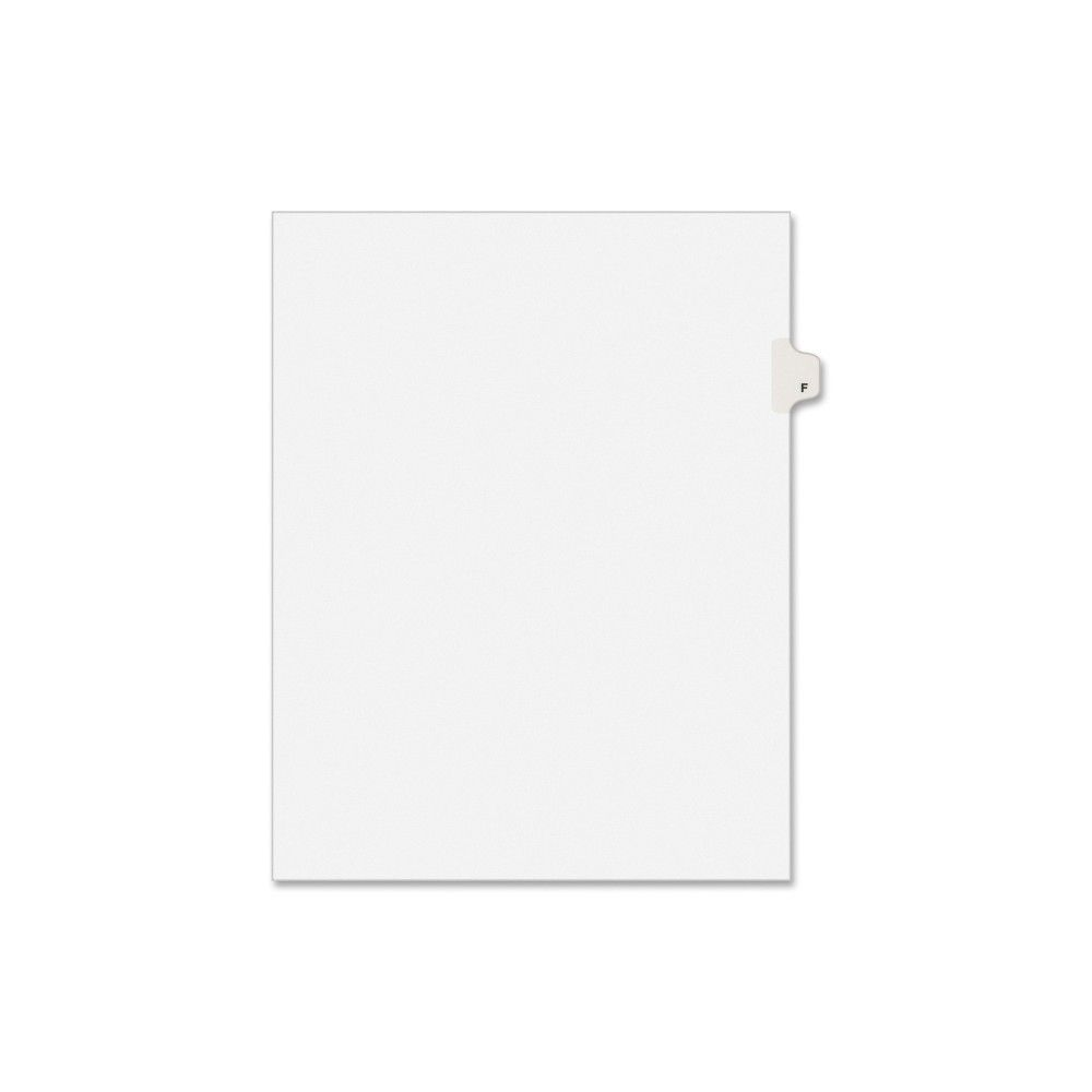 Avery Individual Legal Exhibit Dividers