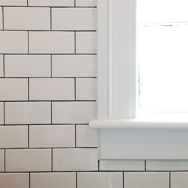 White Kitchen Tiles Grey Grout: Trick To Doing Subway Tiles W/black (or Dark Grey) Grout
