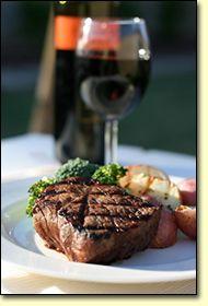 Steak and Wine....mmmmm.....