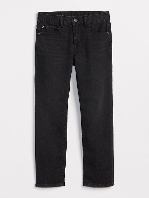 eb51aca9dc9 Gap Boys Superdenim Straight Jeans With Fantastiflex Black Wash ...
