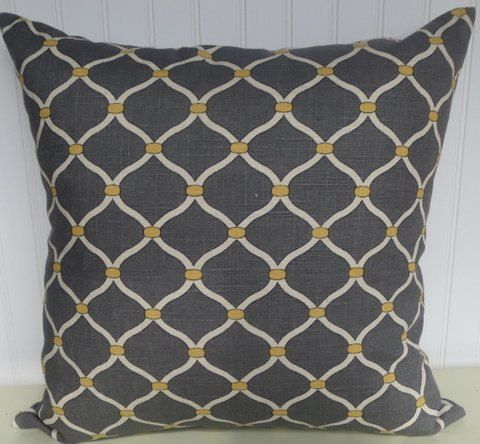 Contemporary Decorative Pillow Cover 20 X 20 Chain Link Throw Pillow Grey And Yell Contemporary Decorative Pillows Grey Throw Pillows Decorative Pillow Covers