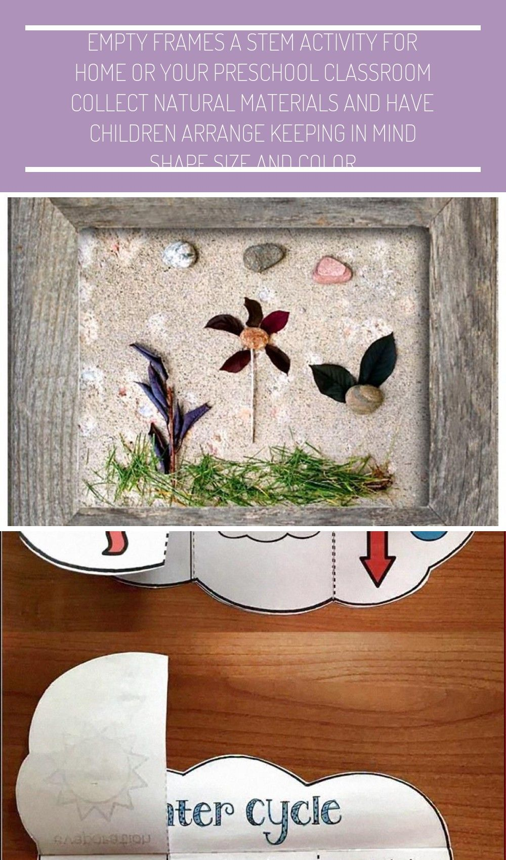 Frames - A STEM activity for home or your preschool classroom! Collect natural materials and have c