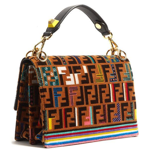1990d24f00b2 Fendi Kan I logo-print velvet shoulder bag ( 7