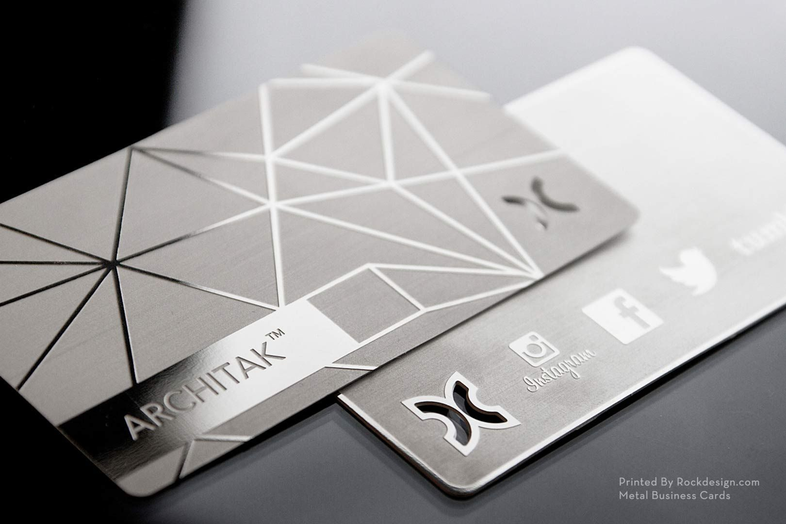 stainless steel business cards rockdesign luxury business card printing
