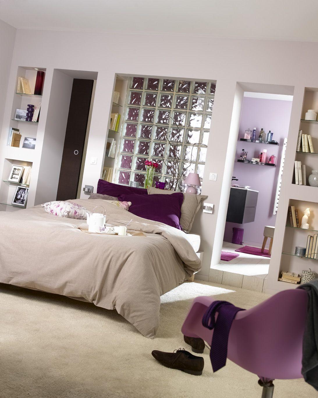 Une suite parentale chambre adulte avec une cloison en for Chambre avec suite parentale