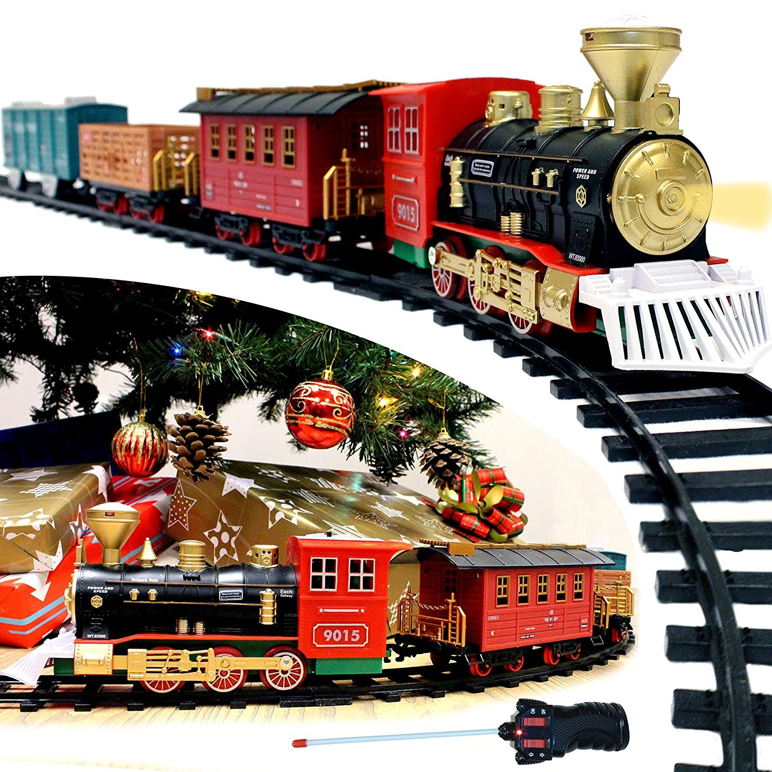 JOYIN Express Christmas Train Set with Remote Control ...