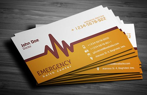 Business Card Design daan-rutgers - akira business cards render - business card template for doctors