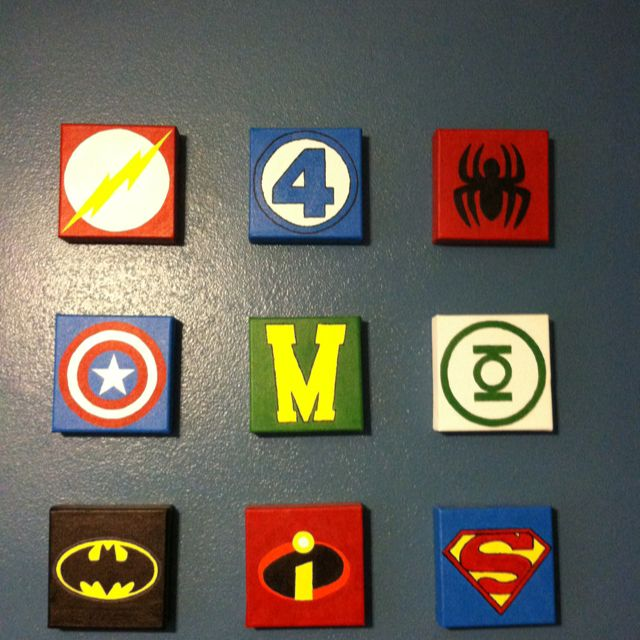 We Couldnt Find Any Super Hero Wall Hangings So We Made It Dustin