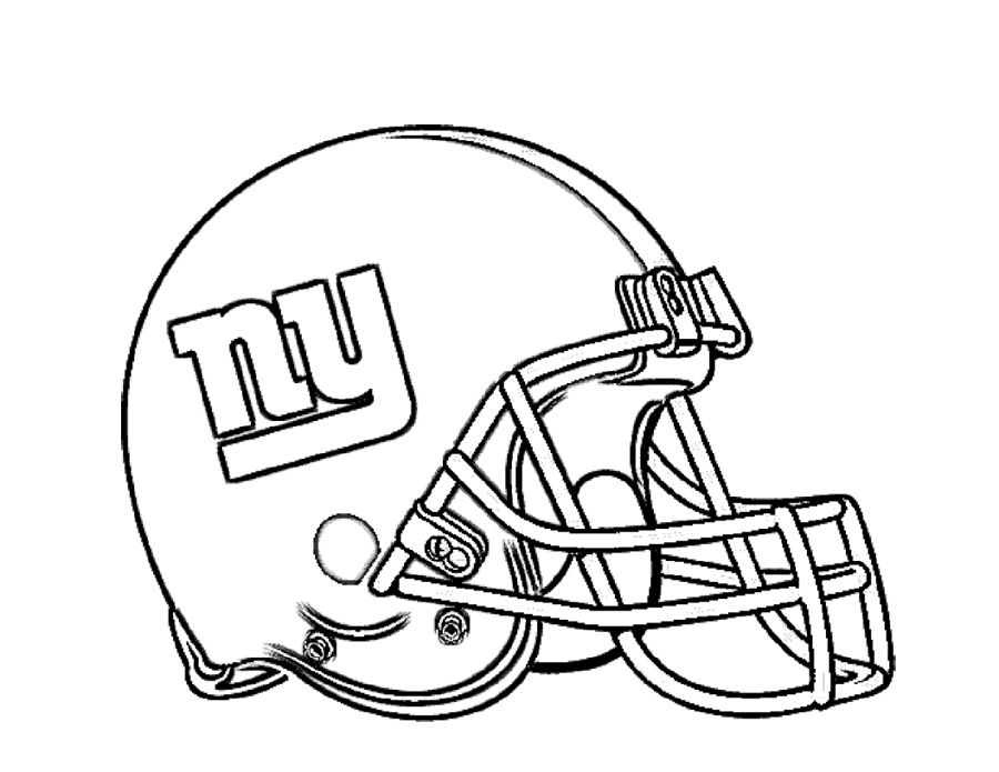 Football Helmet New York Giants Coloring Page For Kids Football
