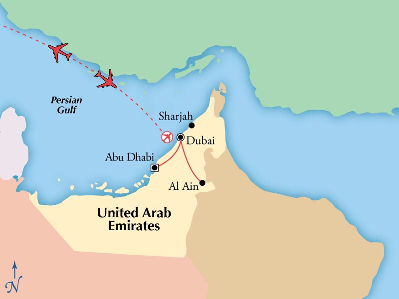 8 Day Tour of Dubai Abu Dhabi Including Flights www