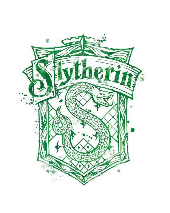 Slytherin crest harry potter hogwarts harry potter print - Gryffindor crest high resolution ...