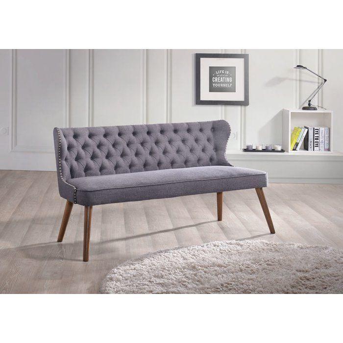Wholesale Interiors Baxton Studio Wood Upholstered Loveseat U0026 Reviews    Wayfair