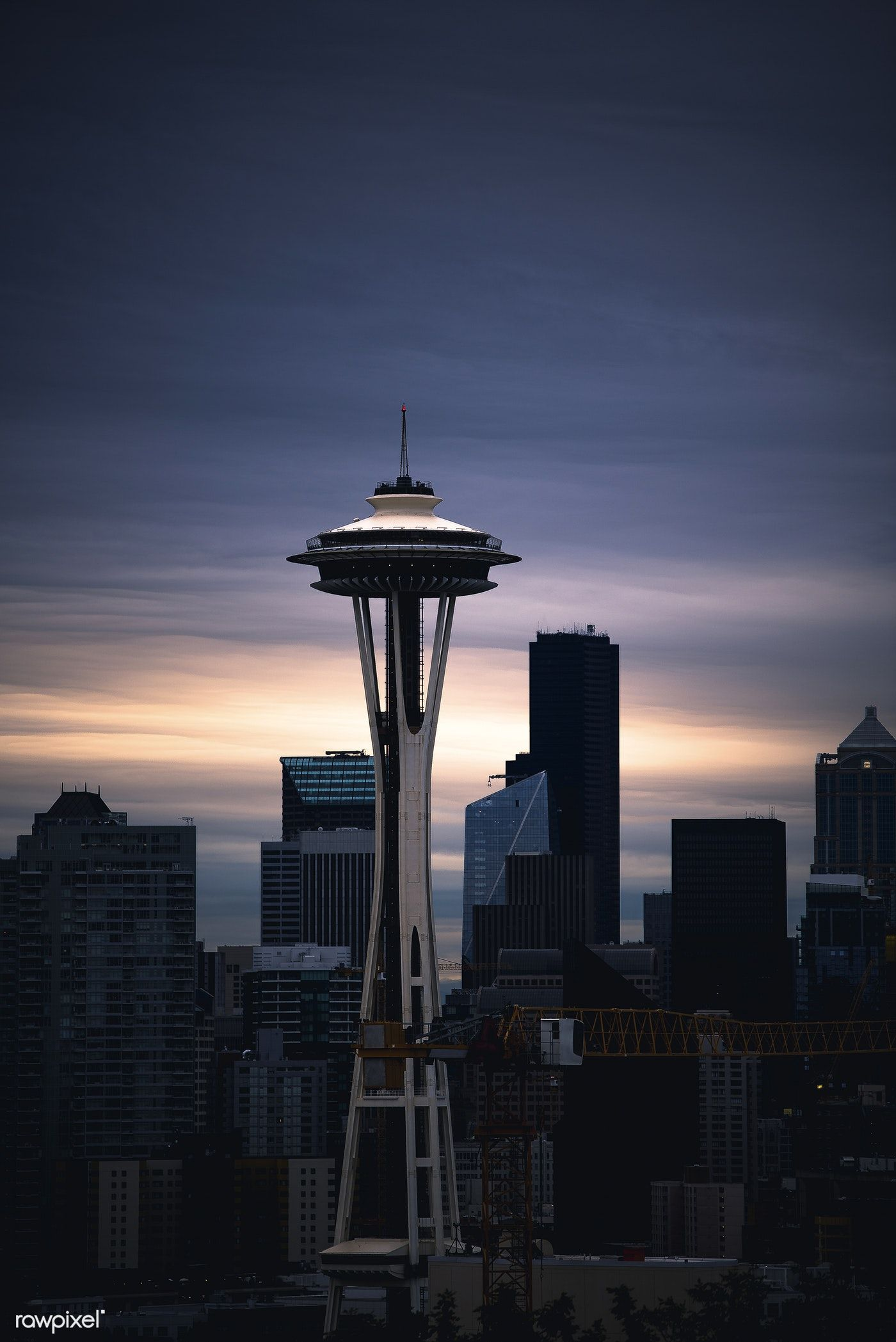 The Seattle Space Needle At Sunrise From Kerry Park In Queen Anne Free Image By Rawpixel Com Casey