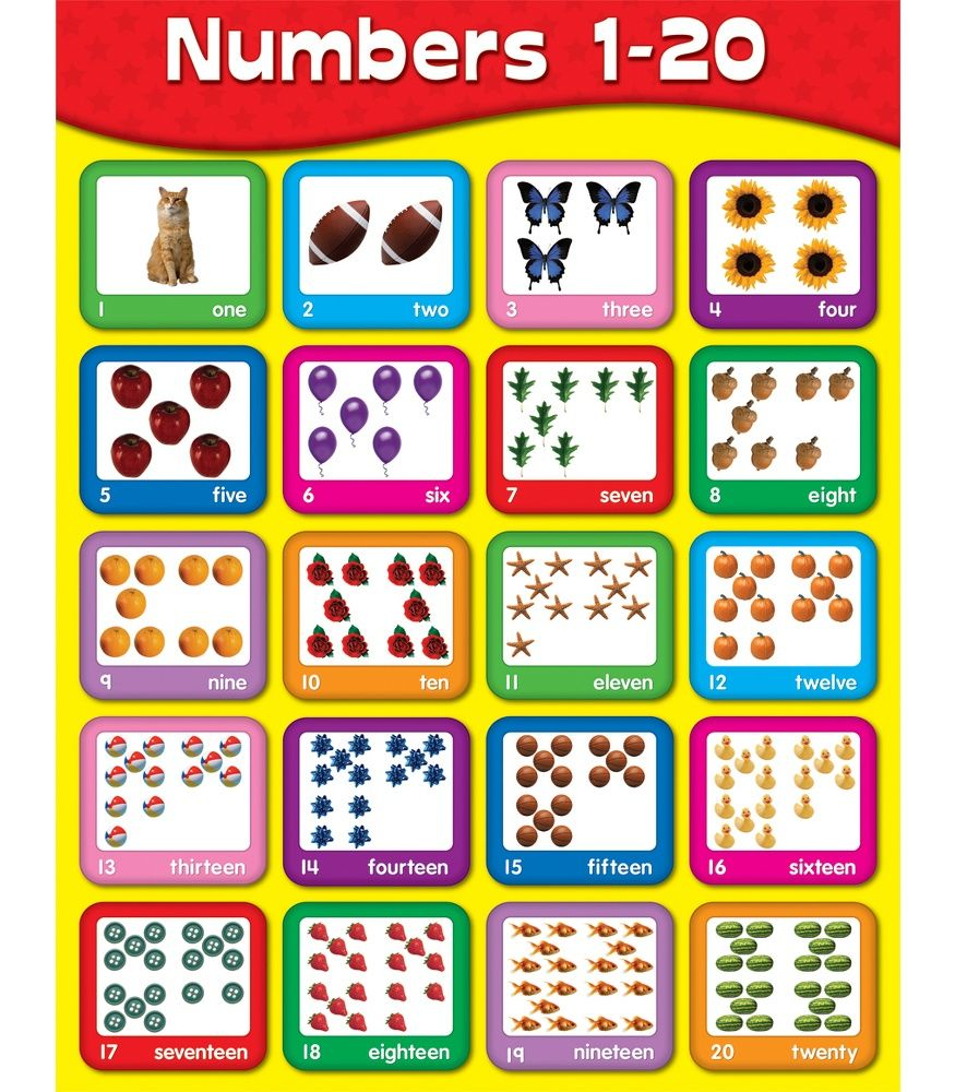 Worksheets Number Chart 1-20 Clip Art 17 best images about maths numbers 1 20 on pinterest activities five little monkeys and kids songs