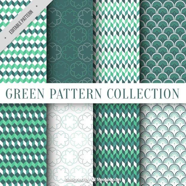 ornamental geométrica deixa padrões Vetor grátis