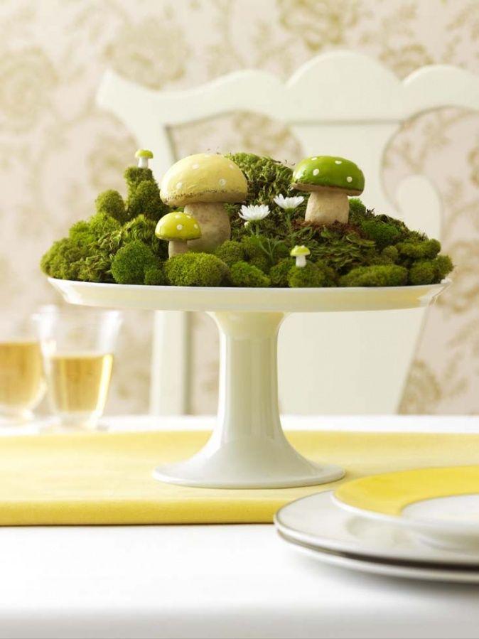 Außergewöhnliche Idee für die Tischmitte Frühlingsideen, Spring - herbst deko ideen fur ihr zuhause