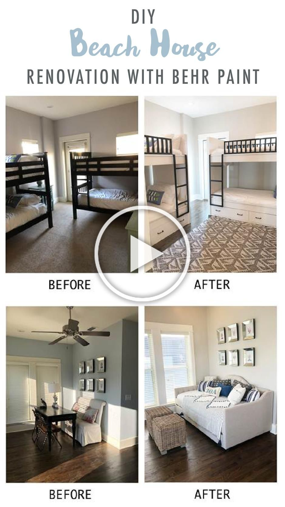 The Before And After Pictures Of This Beach House Makeover Shows