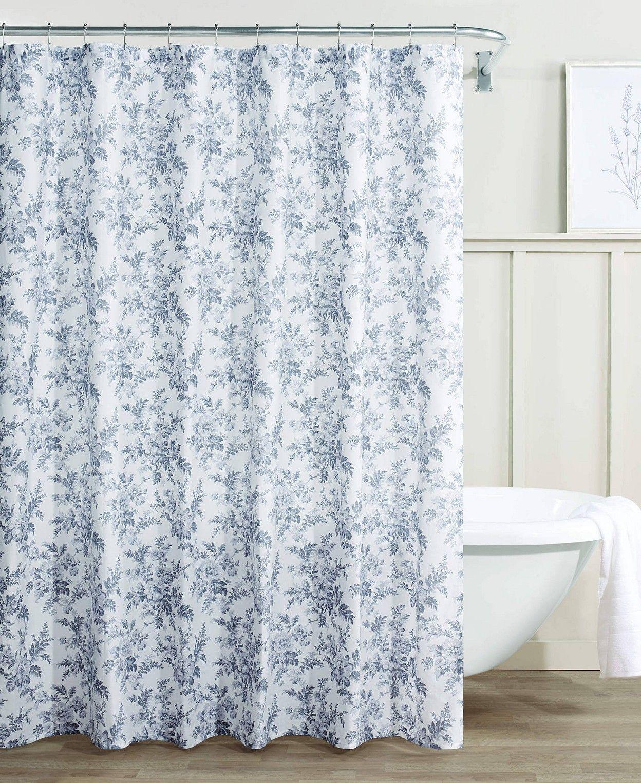 Bathroom Shower Curtains Macy S Cotton Shower Curtain Laura