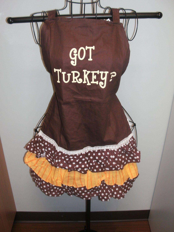 White ruffle apron amazon - Amazon Com Got Turkey Apron Everything Else