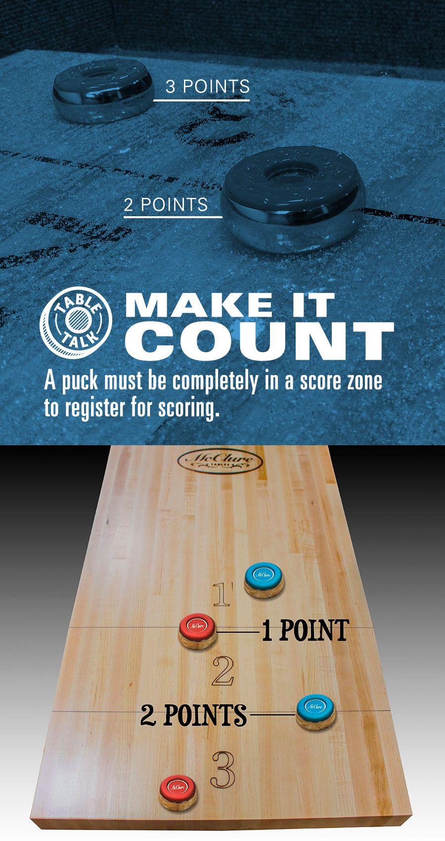 Make it count! Shuffleboard games, Shuffleboard, Games