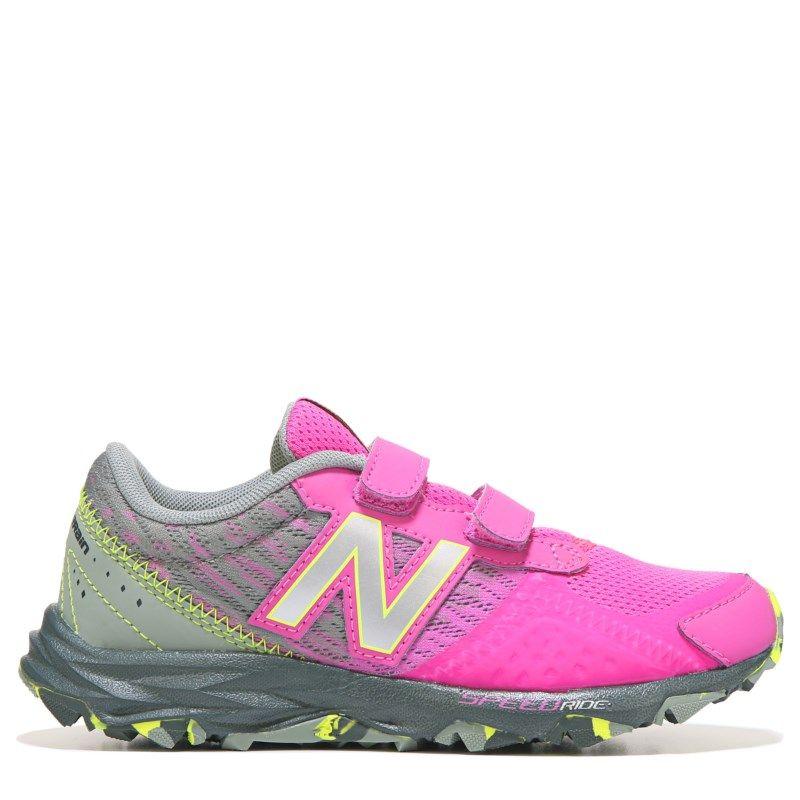 New Balance Kids' 690 V2 Medium/Wide Trail Shoe Pre/Grade School Shoes  (Pink/Grey)