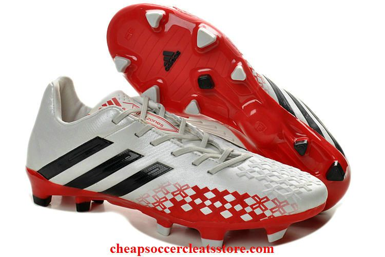 Adidas Predator Lethal Zones Cleats 2013 For David Beckhams Retirement Game  For Cheap White Black Red aea4fc647790