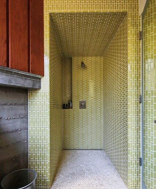 One thoroughly tiled shower, featuring Tapestry tiles in the Stitch ...