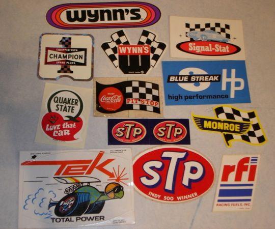 Rad Retro Sticker Collection Found Autofiends Sticker Collection Indy 500 Winner Sticker Patches